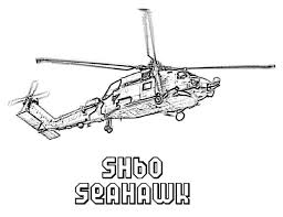 Seahawk Helicopters Coloring Pages For Kids Printable
