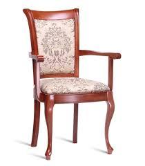 stuhl braun design wohnzimmer esszimmer holz stühle mit armlehne neu polster
