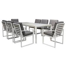 Manly 9 Piece Aluminium Outdoor Dining Table Set, 217cm Pplar Ikea Outdoor Ding Sets Komnit Fniture Set In Alinium European Design Saarinen Round Table Hivemoderncom Compare And Choose Reviewing The Best Teak Patio The Home Depot Hampton Bay Alveranda 7piece Metal With Hanover Monaco 7 Pc Two Swivel Chairs Four Alinum Restaurant Chair 5piece Rectangular Bench Barbeques Galore Styles Stone Harbor Taupe Polywood Official Store