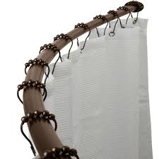 Jcpenney Silver Curtain Rods by Bathroom Double Curved Shower Curtain Rod In Silver With Charming
