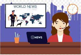 Cartoon News Presenter Illustration