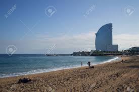100 Barcelona W Hotel Beach Ith Spain Stock Photo Picture And Royalty