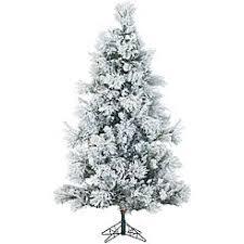 Fraser Hill Farm FFSN090 5SN 9 Ft Flocked Snowy Pine Christmas Tree With Clear