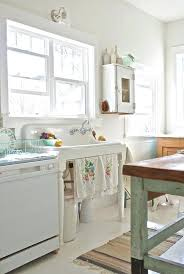 Shabby Chic Kitchen Cabinet White And A Sink Stand In Style