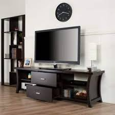 Modern 2 Drawer TV Stand With Open Shelving