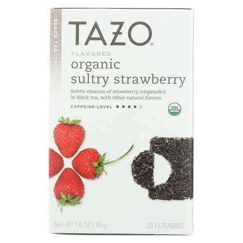 Tazo Organic Black Tea - Sultry Strawberry, 20 Tea Bags