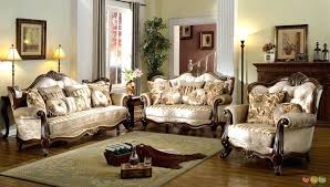 Italian Living Room Set French Provincial Formal Antique Style Furniture Beige Chenille Modern Leather Valleyrock