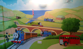 Thomas The Tank Engine Bedroom Decor by Our Latest Mural Paintings