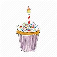 bake birthday cake cupcake dessert sprinkles sweet vanilla icon