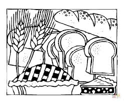 Click The Slices Of Bread Coloring Pages