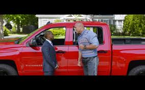 Red Chevrolet Silverado Pickup Truck – Central Intelligence (2016) Movie