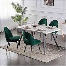 esszimmerstühle schminkstühle wohnzimmerstühl 1er set samt grün bürostuhl und rücken mit gold metallbeinen küche stühle für hause und wohnzimmer