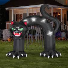 Walmart Inflatable Halloween Cat by Seasonal 10 Foot Airblown Archway Black Cat Walmart Com