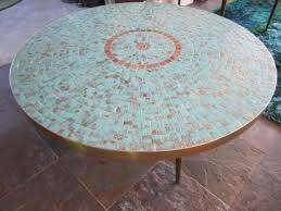 glass mosaic tile coffee table how to make a mosaic tile coffee