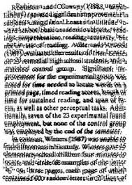 distorted text