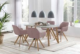 esszimmer essgruppe mit 4 stühlen esstisch komplettset weiß eiche rosé