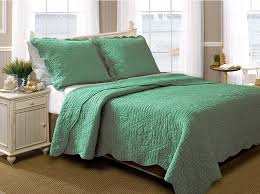 100 Seaside Home La Jolla Greenland 2Piece Quilt Set Twin Jade