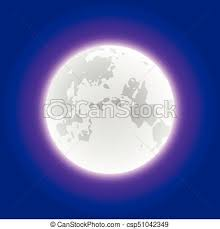 Vector Moon Realistic White Illustrator