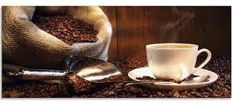 glasbild wandbild küche kaffee 125 x 50