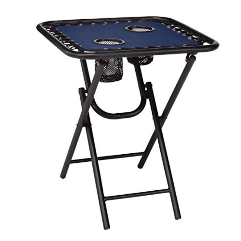 Living Accents Navy Bungee Folding Table - 18in