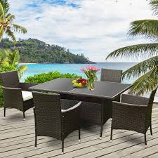 Costway 5PCS Rattan Garden Sofa Set Outdoor Patio Furniture Table Chair  With Cushion Supagarden Csc100 Swivel Rattan Outdoor Chair China Pe Fniture Tea Table Set 34piece Garden Chairs Modway Aura Patio Armchair Eei2918 Homeflair Penny Brown 2 Seater Sofa Table Set 449 Us 8990 Modern White 6 Piece Suite Beach Wicker Hfc001in Malibu Classic Ding And 4 Stacking Bistro Grey Noble House Jaxson Stackable With Silver Cushion 4pack 3piece Cushions Nimmons 8 Seater In Mixed