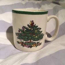 Spode Christmas Tree Mugs With Spoons by Spode Mug Ebay