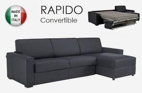 canape d angle dreamer convertible ouverture rapido 120cm cuir eco