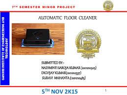 Floor Cleaning Robot Project Report by Floor