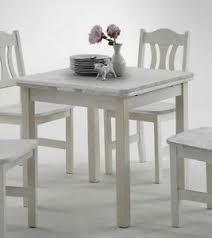 details zu massivholz ausziehtisch 77x77 weiß kiefer küchen tisch esstisch ausziehbar klein