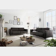 living sofa churchill anthrazit microfaser