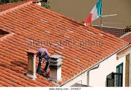 clay tile roof stock photos clay tile roof stock images alamy