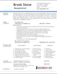 French Teacher Resume Examples For Receptionist Sample Example Medical