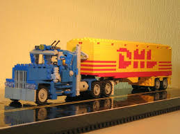 Old Long Nose Working Semi Truck Pulling The DHL Trailer - LEGO | By ... Tiny Turbos Concept Semi Truck Digibrickz White Custom Lego Extended Sleeper Cab With Chrome Trim Ideas Product Ideas Heavy Duty And Road Grader Brickcreator A Red 29 American Super Long Nose Distance Flickr Lego Moc Big Rig Day Cab Single Axle Semi Truck Itructions Ldd Grain Trailers Bin 7 Steps With Pictures Trailer Set Rts House Of Coolness