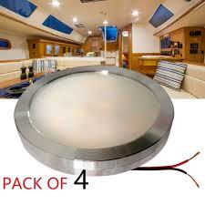 4pcs cool white 12v dc led cabinet lights aluminum cover
