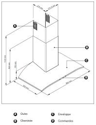 hauteur pour une hotte de cuisine hauteur standard hotte de cuisine cuisine a z 83 taille standard
