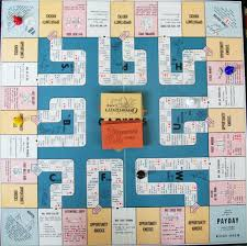 Parker Brothers Game Board 1955 Careers