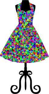 Low Poly Prismatic 1950s Vintage Dress
