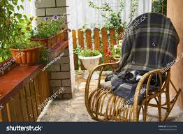 Cat On Rocking Chair Stock Image | Download Now