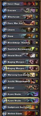 hearthstone featured deck the molten giant otk warrior blame lag
