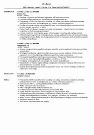 Entry Level Recruiter Resume Title Examples For Summary Example Resum