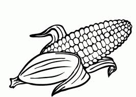 The Best Corn Coloring Sheet
