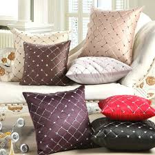 DecorationsAmazoncom Sanwood Home Office Sofa Bed Decor Multicolored Embroidery Plaids Throw Pillow Case