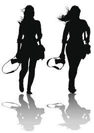 Professional women work vector art illustration