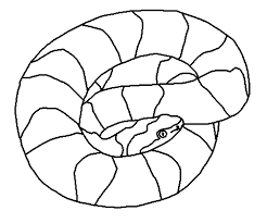 Snake Coloring Pages 9