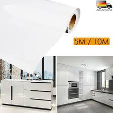 folie 10m weiß hochglanz möbelfolie klebefolie küchenfolie