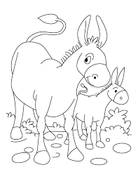 Drawn Donkey Coloring Page 3
