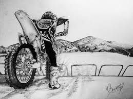 My Pencil Art Of Dirtbikes
