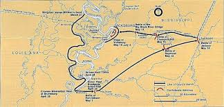 Vicksburg Siege Civil War Map