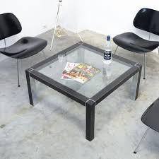 minimalistischer beistelltisch aus chrom holz 1970er