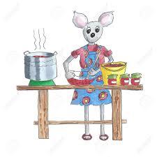 souris cuisine illustration de la confiture de cuisine de souris à partir de fruits